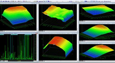 Car engine measuring application images